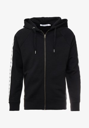 MONOGRAM TAPE ZIP THROUGH - veste en sweat zippée - black