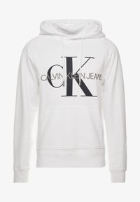 Calvin Klein Jeans - WASHED RELAXED MONOGRAM HOODIE - Hoodie - bright white - 3