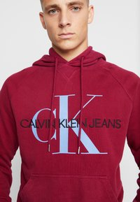 Calvin Klein Jeans - WASHED RELAXED MONOGRAM HOODIE - Mikina skapucí - beet red - 5