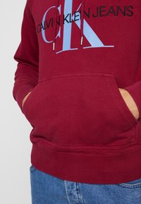 Calvin Klein Jeans - WASHED RELAXED MONOGRAM HOODIE - Mikina skapucí - beet red - 3