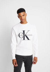 Calvin Klein Jeans - RELAXED MONOGRAM - Sweatshirt - bright white - 0