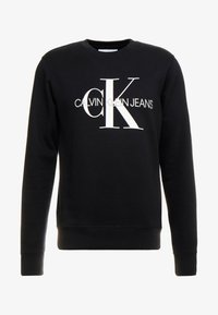 Calvin Klein Jeans - ICONIC MONOGRAM CREWNECK - Sweatshirt - black - 4