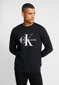 Calvin Klein Jeans - ICONIC MONOGRAM CREWNECK - Sweatshirt - black - 0