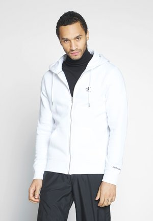 ESSENTIAL ZIP THROUGH - Felpa aperta - bright white