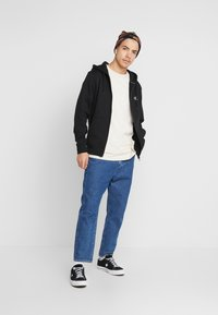 Calvin Klein Jeans - ESSENTIAL ZIP THROUGH - Bluza rozpinana - black - 1