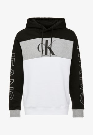 STATEMENT HOODIE - Jersey con capucha - black/white