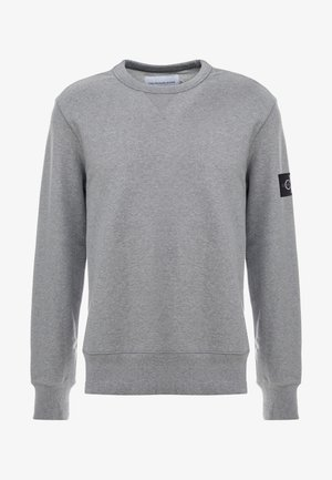 MONOGRAM SLEEVE BADGE - Sweatshirt - mid grey heather