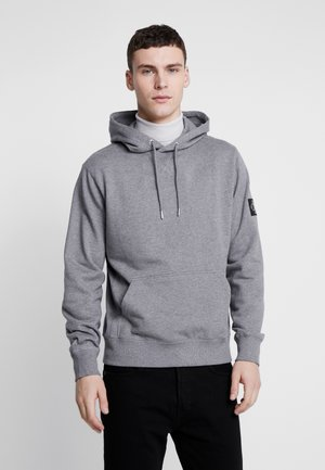 MONOGRAM SLEEVE BADGE HOODIE - Sweat à capuche - mid grey heather