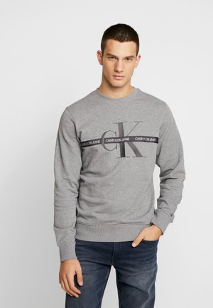 TAPING THROUGH MONOGRAM - Bluza - mid grey heather