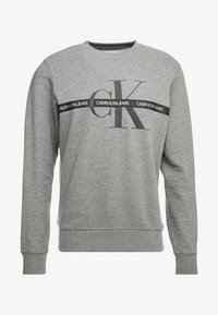 Calvin Klein Jeans - TAPING THROUGH MONOGRAM - Mikina - mid grey heather - 4