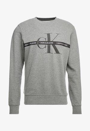 TAPING THROUGH MONOGRAM - Sweatshirt - mid grey heather