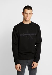 Calvin Klein Jeans - TAPING THROUGH MONOGRAM - Bluza - black - 2