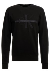 Calvin Klein Jeans - TAPING THROUGH MONOGRAM - Bluza - black - 0