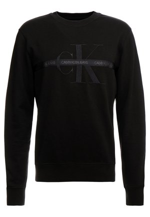 TAPING THROUGH MONOGRAM - Sweatshirt - black