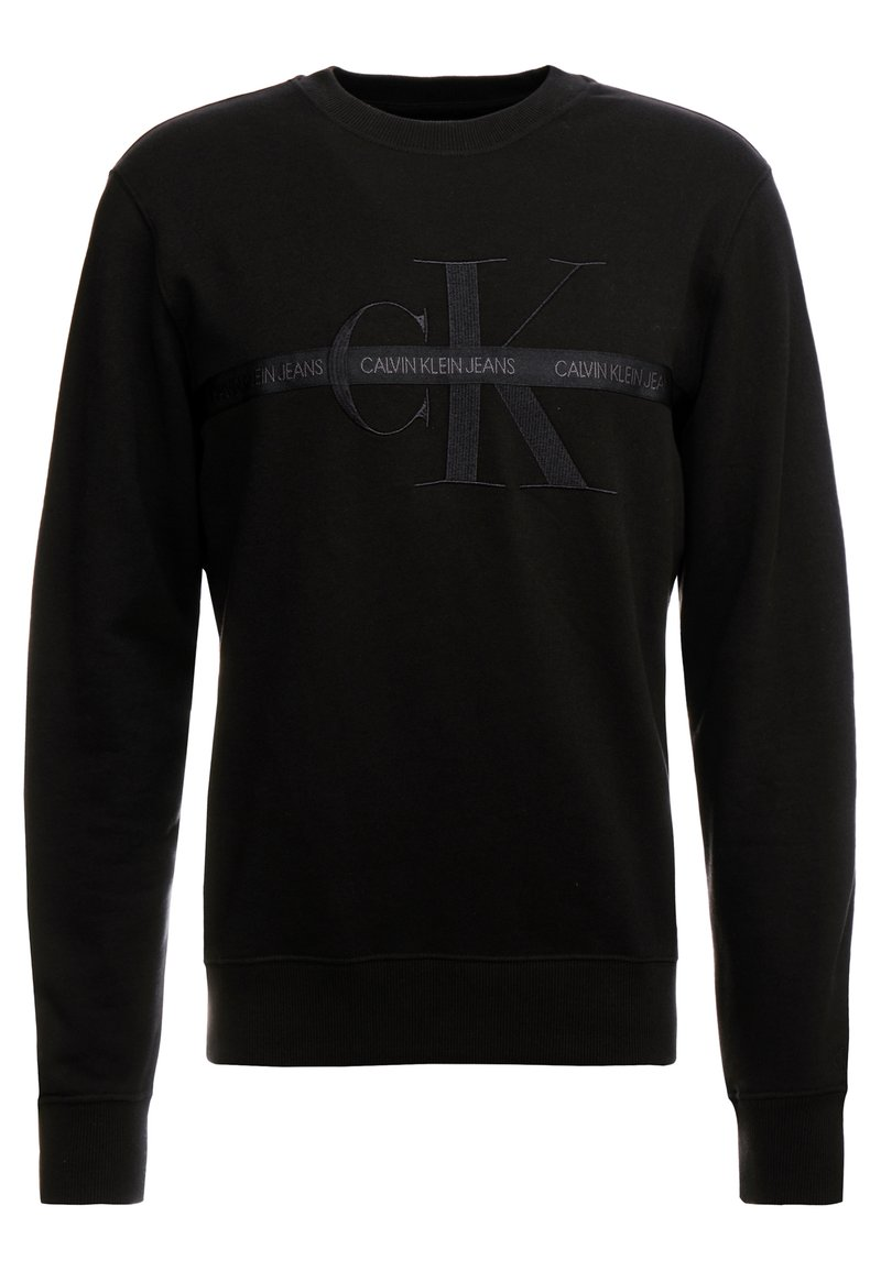 Calvin Klein Jeans - TAPING THROUGH MONOGRAM - Bluza - black