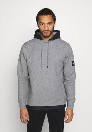 MIXED MEDIA  - Sweat à capuche - mid grey heather/black