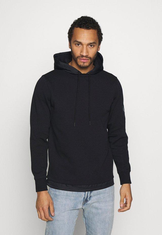 MIXED MEDIA  - Bluza z kapturem - black
