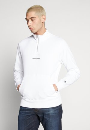 INSTIT CHEST LOGO MOCK NECK - Sweatshirt - bright white