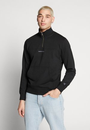INSTIT CHEST LOGO MOCK NECK - Sweater - black