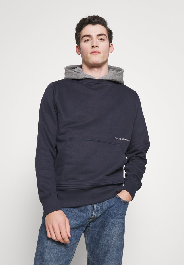 CONTRASTED HOODIE - Jersey con capucha - night sky/mid grey heather