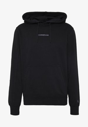 INSTIT CHEST LOGO HOODIE - Bluza z kapturem - black