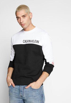 COLOR BLOCK PANEL CREW NECK - Sweatshirt - black