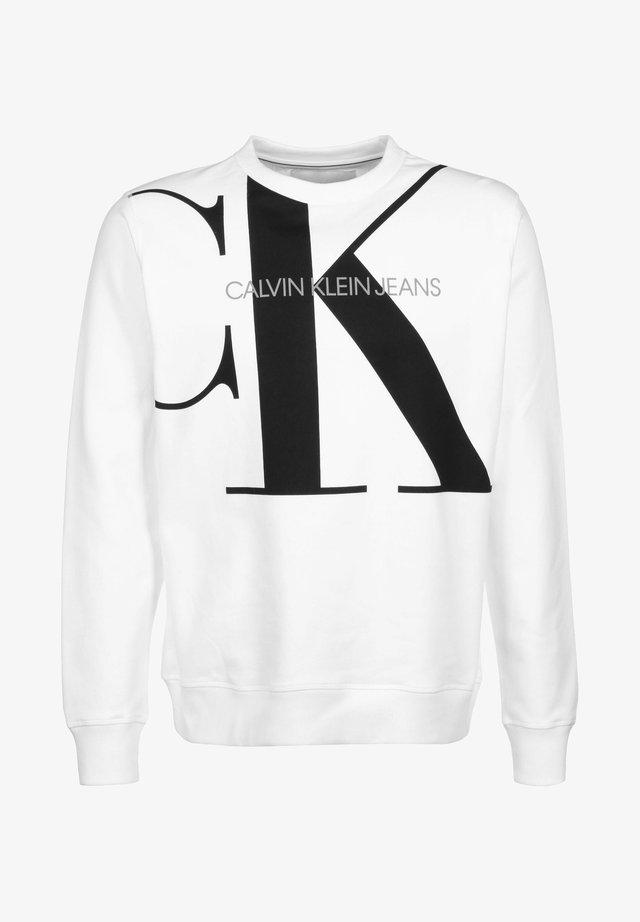 UPSCALE MONOGRAM CREW NECK - Sweatshirt - white