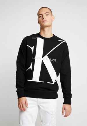 UPSCALE MONOGRAM CREW NECK - Sweater - black