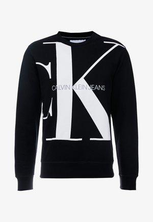 UPSCALE MONOGRAM CREW NECK - Sweater - black