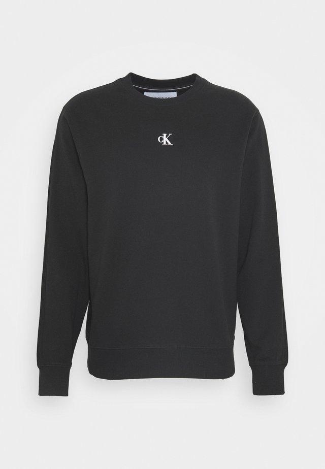 PUFF CREW NECK - Sweatshirt - black