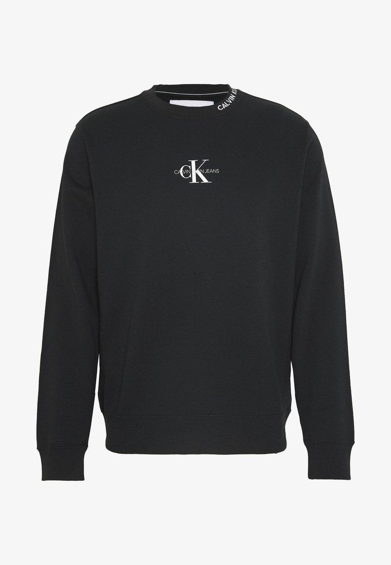 Calvin Klein Jeans - CENTER MONOGRAM CREW NECK - Sweatshirt - black