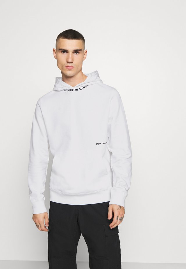SUBTLE INSTITUTIONAL LOGO HOODIE - Jersey con capucha - bright white