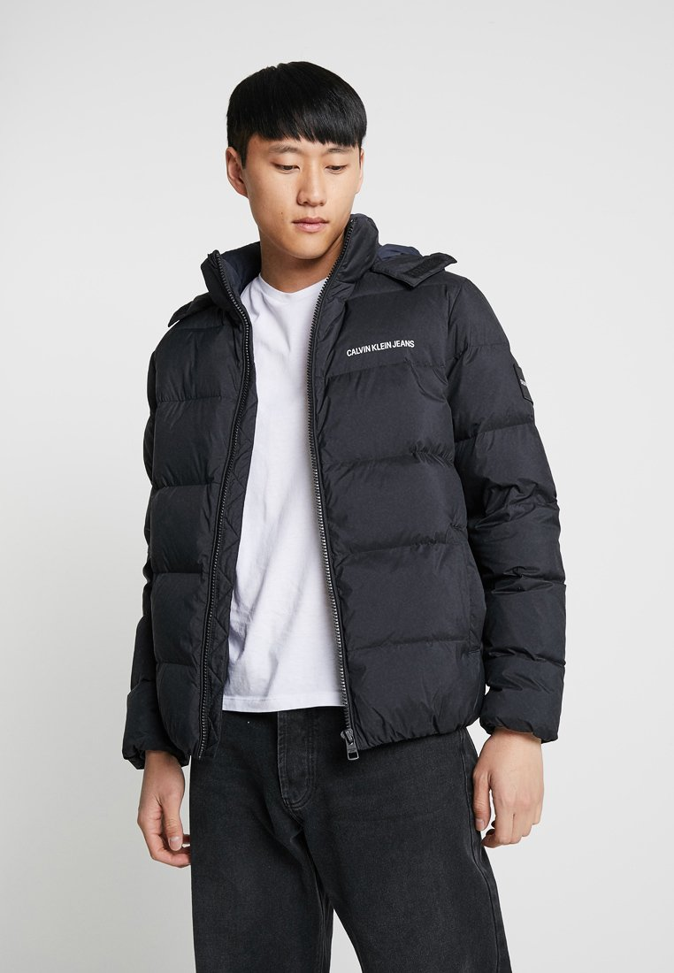Calvin Klein Jeans - HOODED DOWN PUFFER  - Winter jacket - black