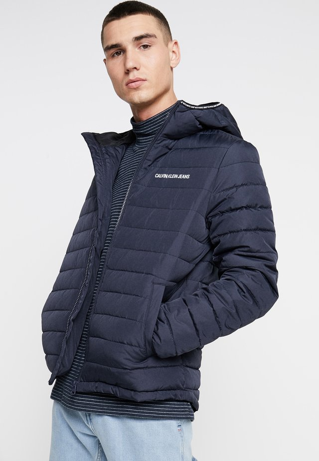 PADDED HOODED JACKET - Veste mi-saison - blue