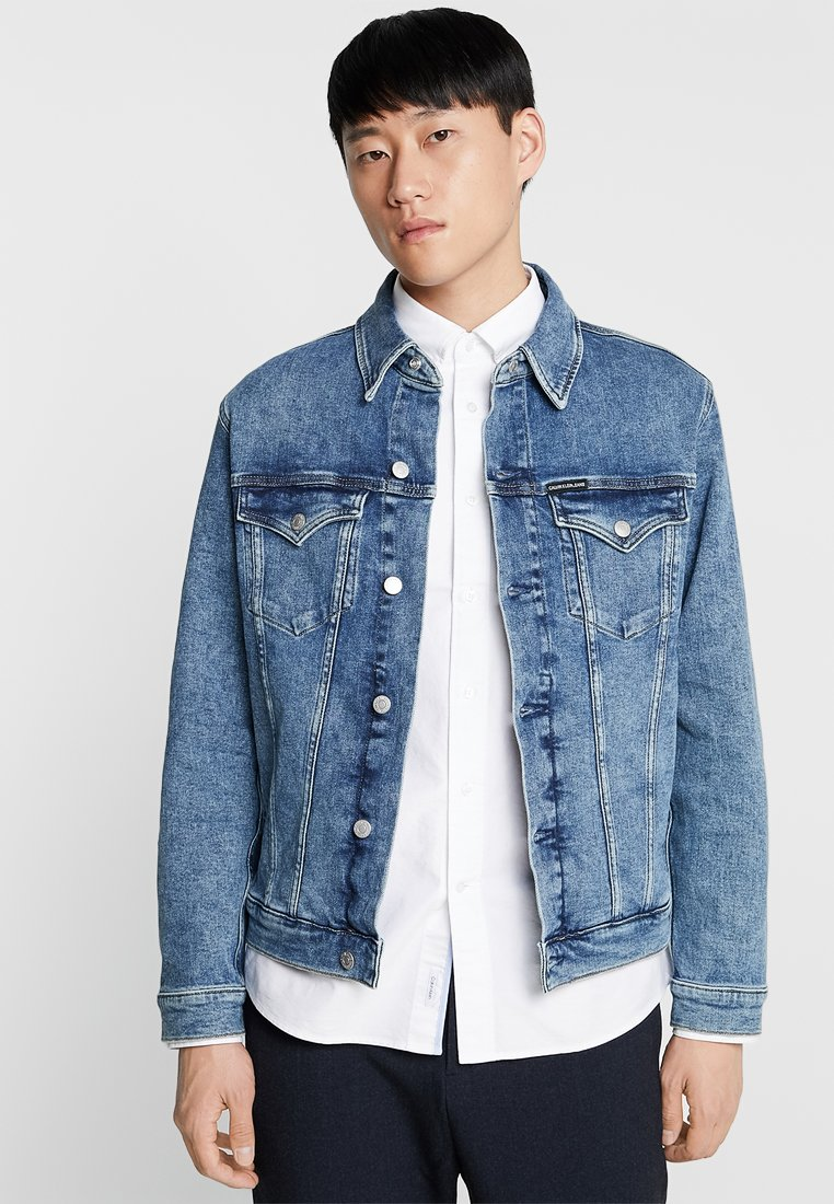 Calvin Klein Jeans - FOUNDATION SLIM JACKET - Denim jacket - denim