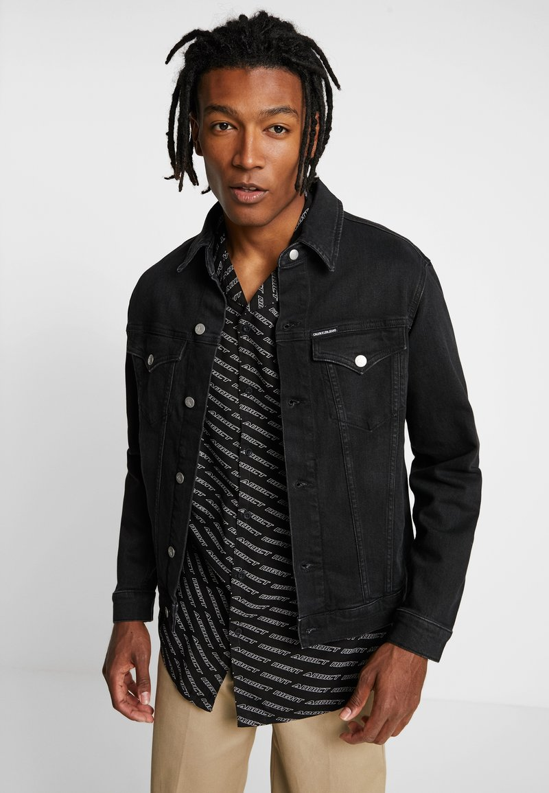 Calvin Klein Jeans - FOUNDATION SLIM JACKET - Jeansjacke - denim