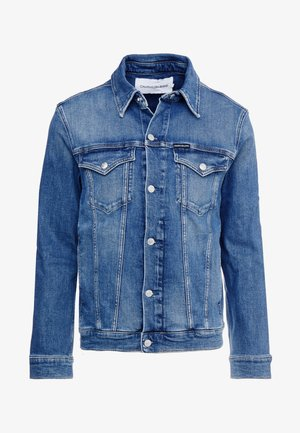 FOUNDATION SLIM JACKET - Denim jacket - mid blue