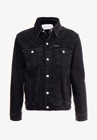 Calvin Klein Jeans - FOUNDATION SLIM JACKET - Kurtka jeansowa - black - 4