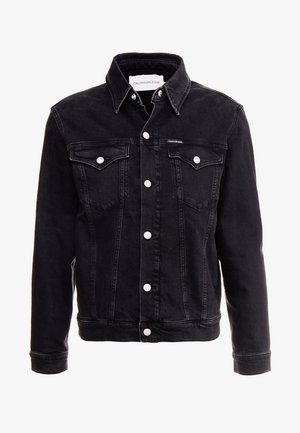 FOUNDATION SLIM JACKET - Džínová bunda - black