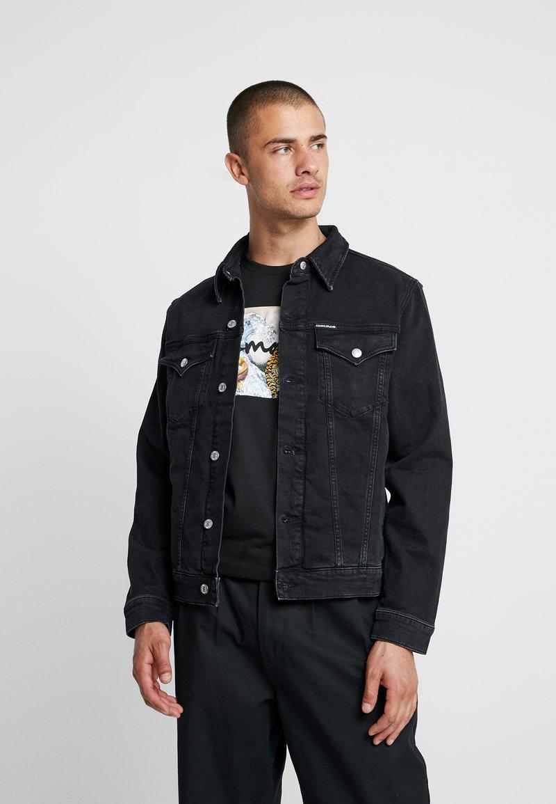 Calvin Klein Jeans - FOUNDATION SLIM JACKET - Kurtka jeansowa - black