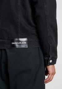 Calvin Klein Jeans - FOUNDATION SLIM JACKET - Kurtka jeansowa - black - 3