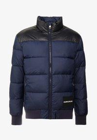 Calvin Klein Jeans - PADDED WESTERN PUFFER - Zimní bunda - night sky / black - 4