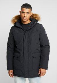 Calvin Klein Jeans - TRIMMED HOODED PADDED  - Dunfrakker - black - 0