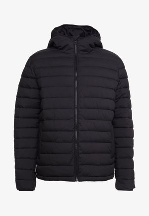 MONOGRAM TAPE PUFFER - Zimní bunda - black/white