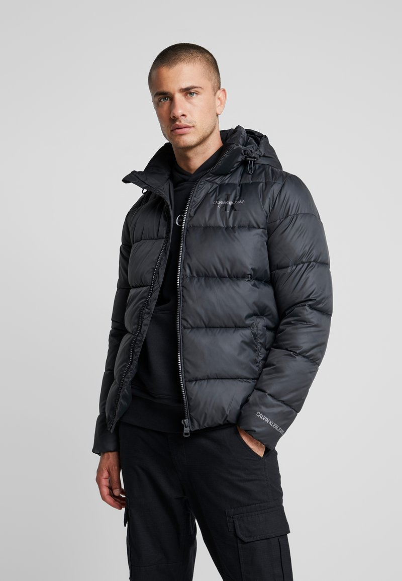Calvin Klein Jeans - MONOGRAM PADDED JACKET - Talvitakki - black