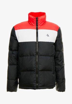 Kurtka puchowa - black/racing red