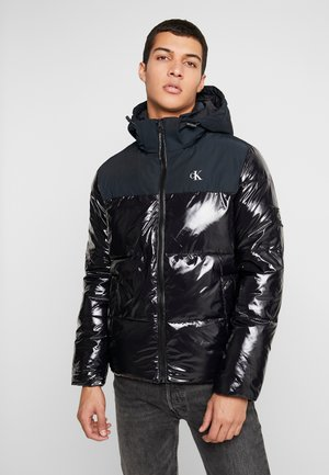 HIGH SHINE PADDED PUFFER - Vinterjakke - black