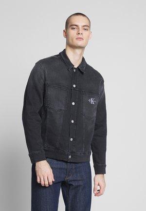 OVERSIZED ICONICS OMEGA - Denim jacket - ca049 black