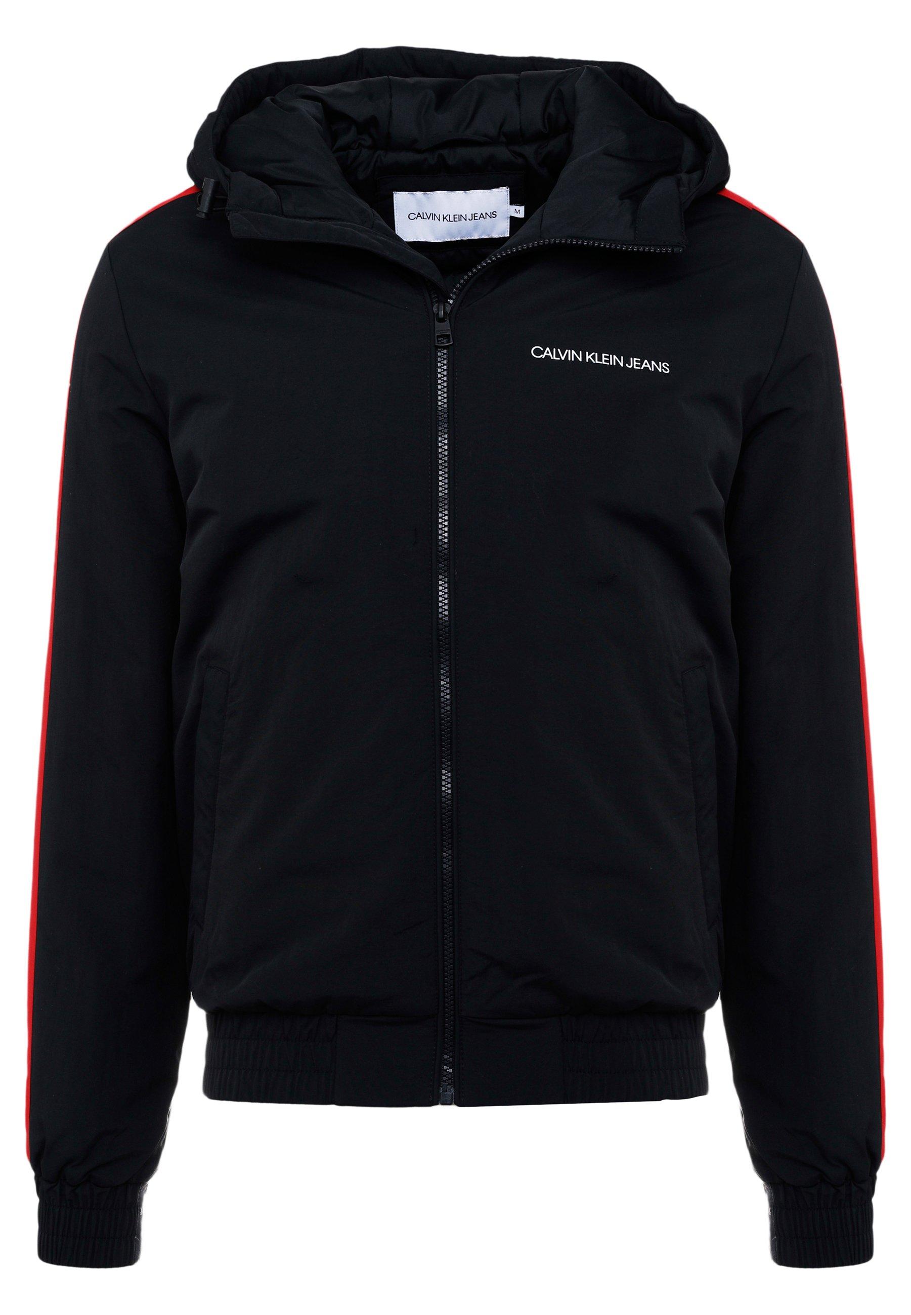 Calvin Klein Jeans PADDED JACKET - Kurtka zimowa - black/racing red