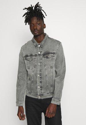 FOUNDATION SLIM JACKET - Kurtka jeansowa - light grey